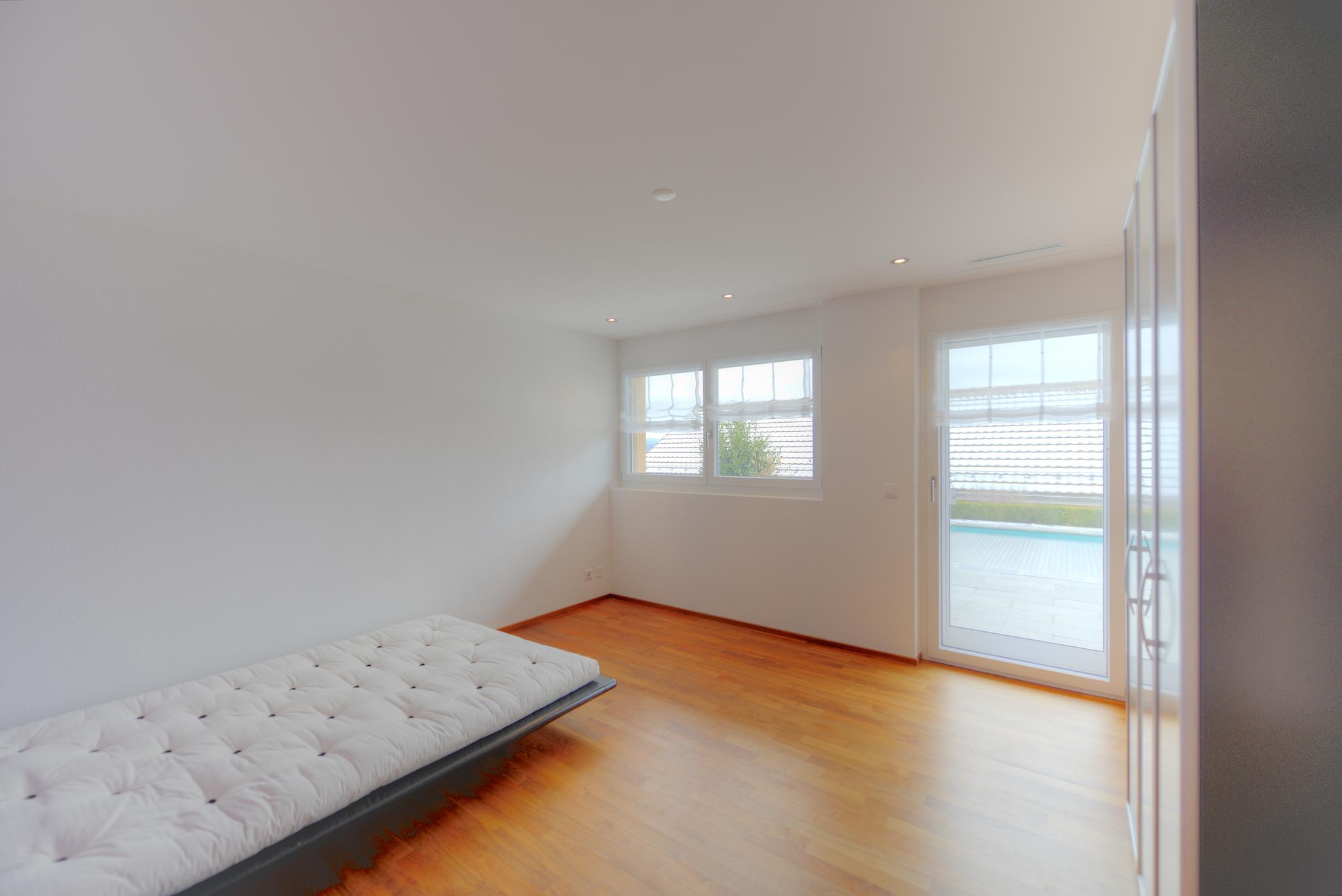 Zimmer links im Schlafgeschoss