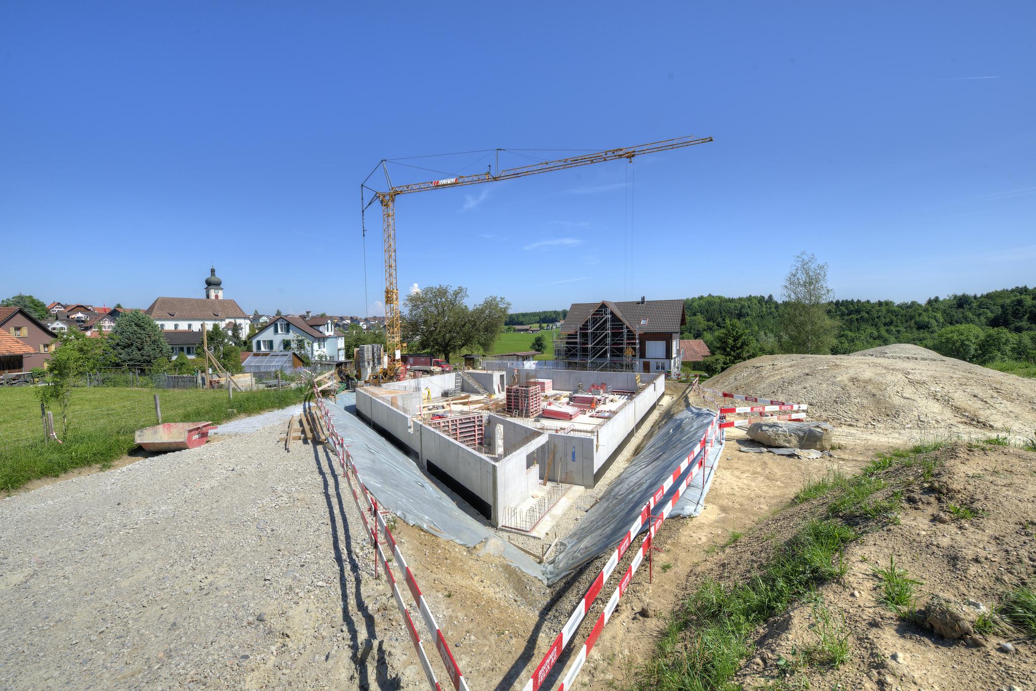 Die Baustelle im Juni