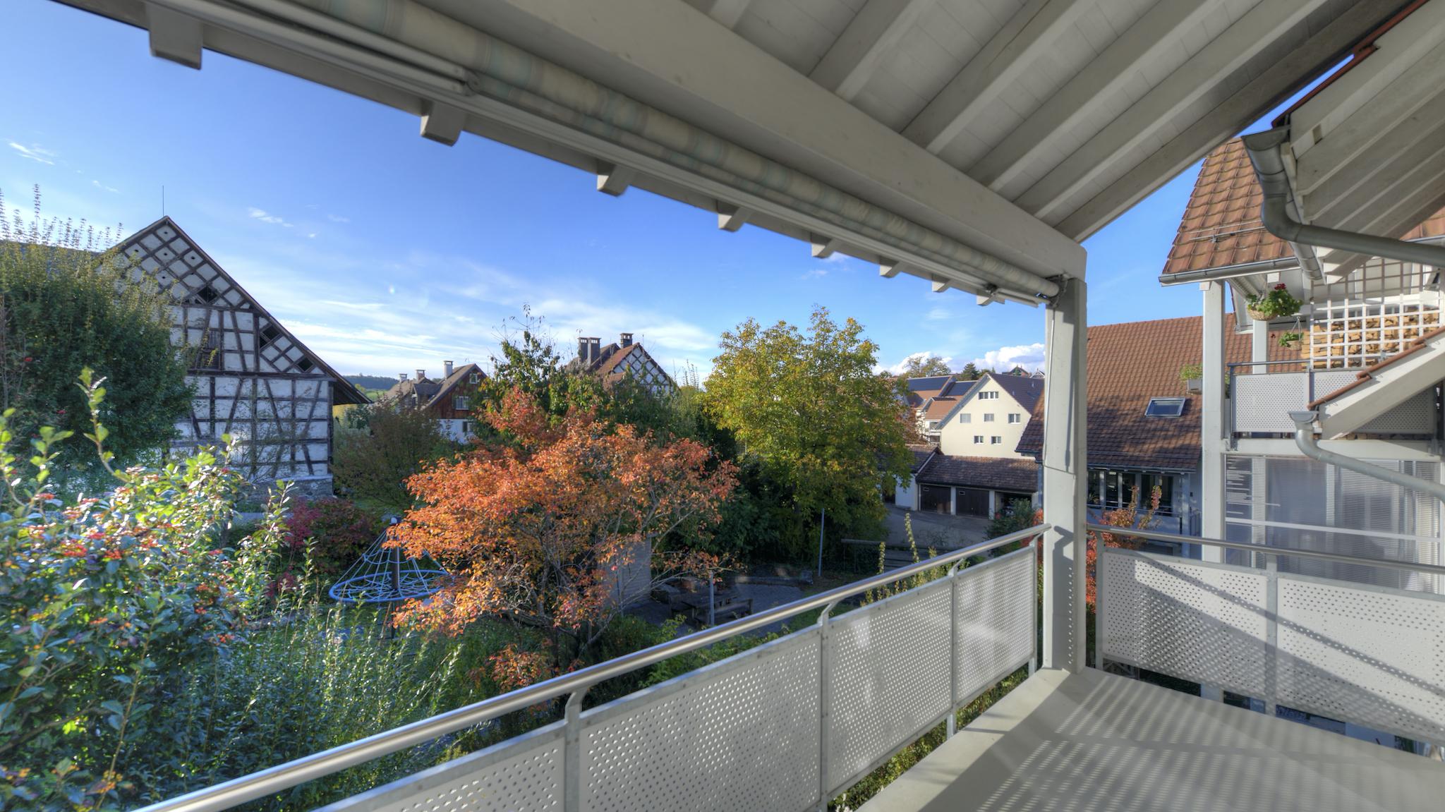 Aussicht vom Balkon (West-Ausrichtung)