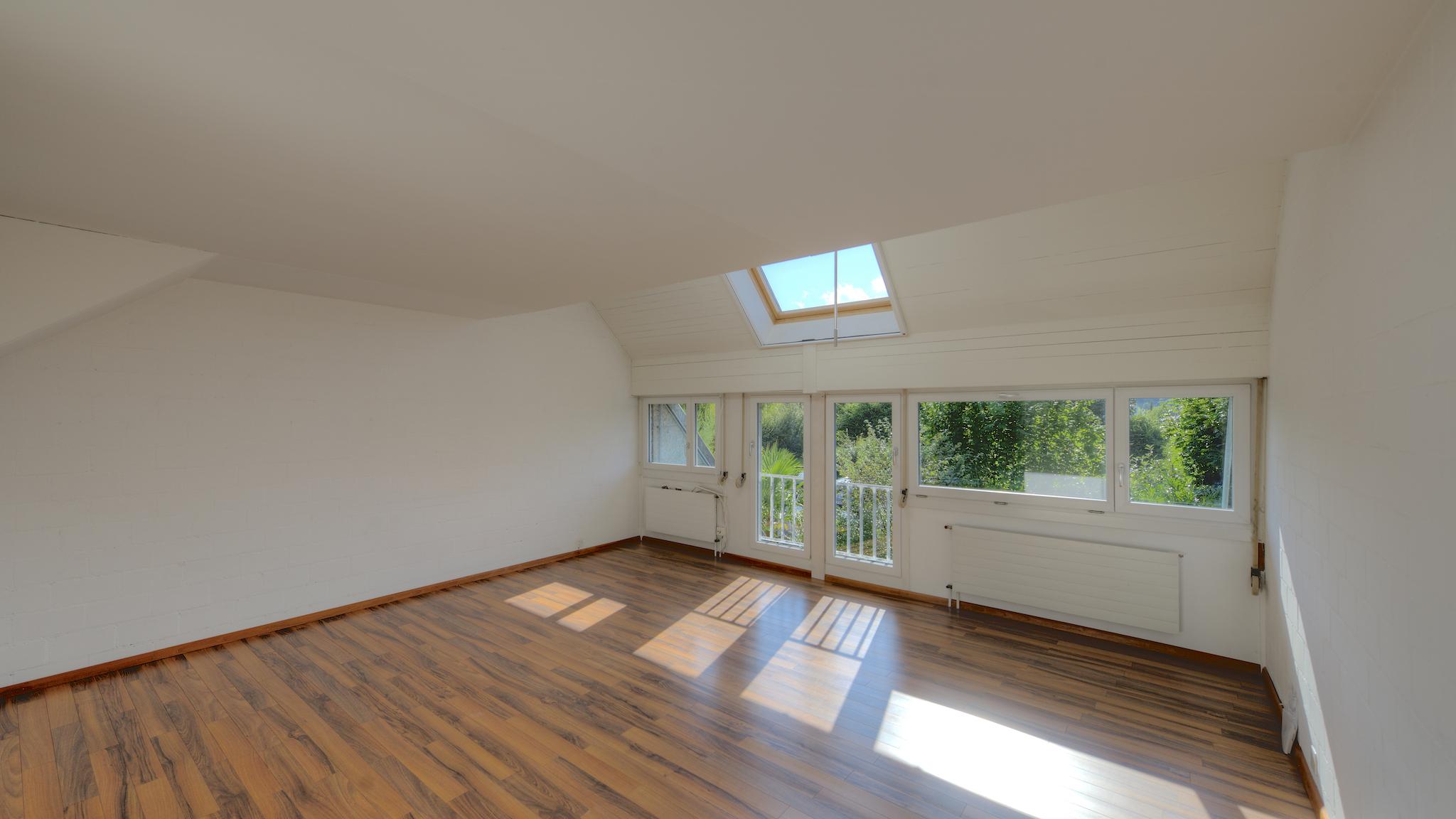 Das grosse Zimmer mit dem Dachfenste