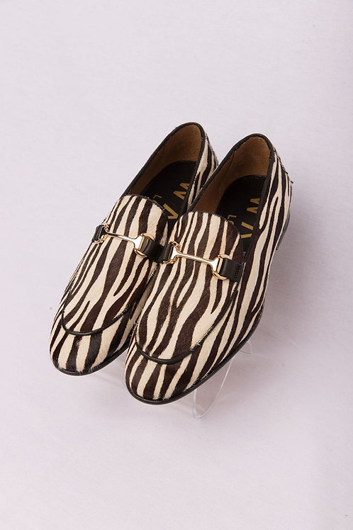 ZEBRA LOOK BIT LOAFER