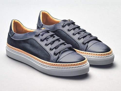 Calf / Velour Gunmetal Sneaker