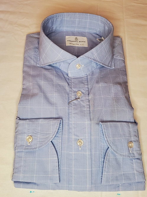 WASHED EGYPTIAN COTTON PLAID CASUAL SHIRT