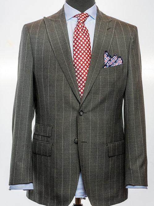 Grey Pinstripe Super 120's Merino Wool Suit
