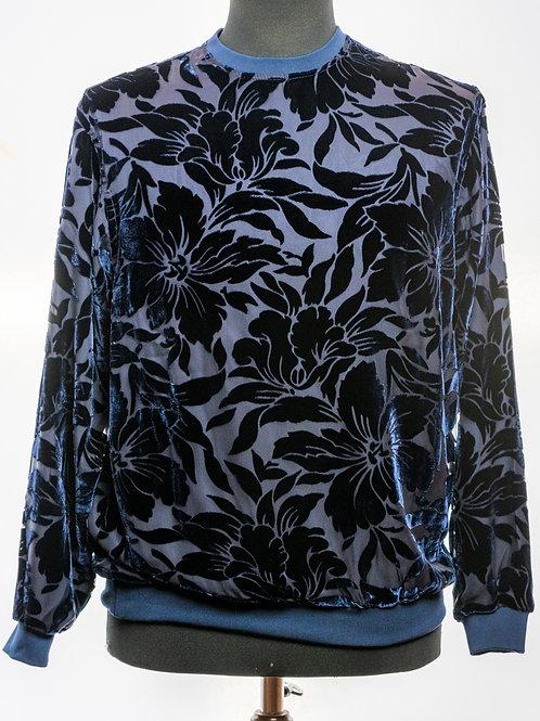 Seared Silk Velvet Top By Italo Ferretti