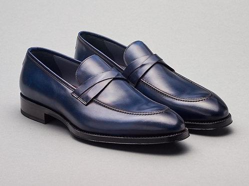 Calf Navy Blu Loafer