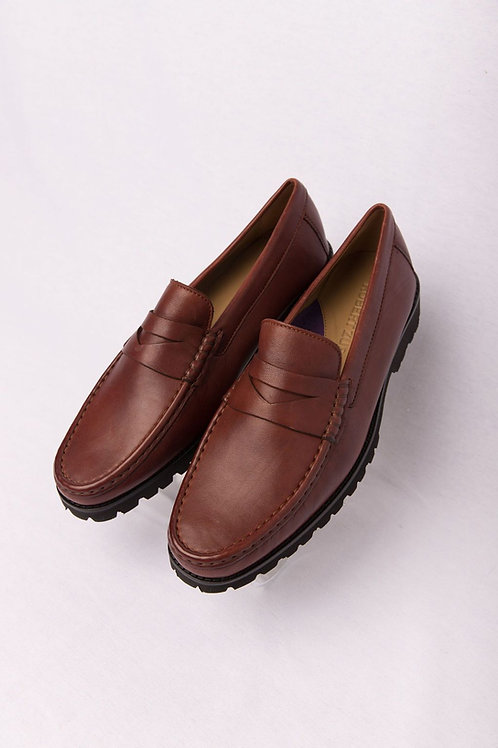 SOFT ANALINE LUGGAGE CALF LEATHER SLIP ON WITH LUG SOLE