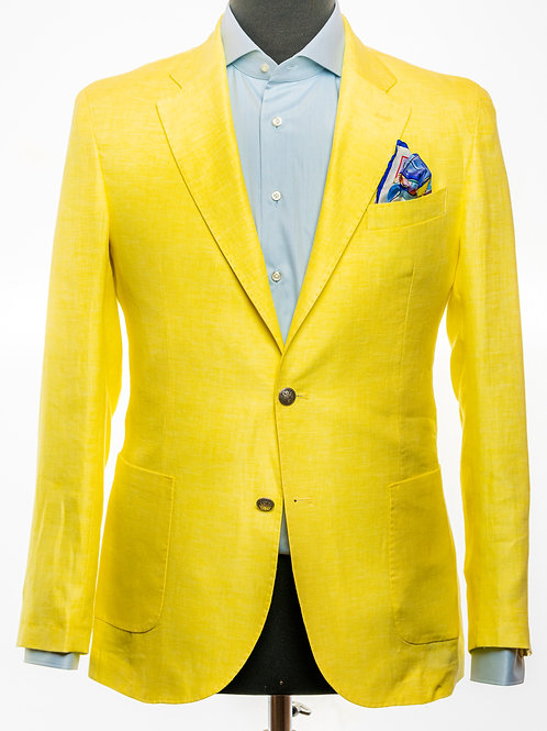 Pure Linen Sunshine Yellow Blazer