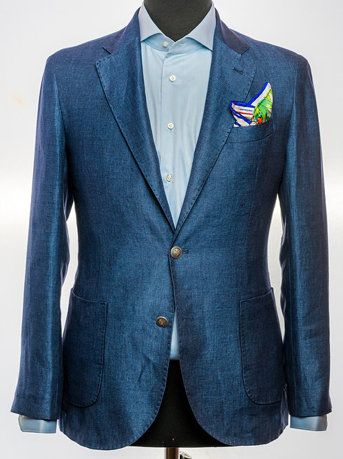 Pure Linen Blue Blazer