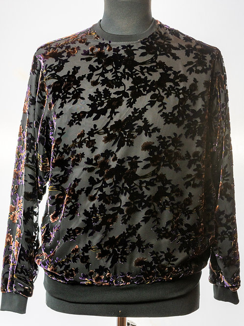 Seared Silk Velvet Top By Italo Ferretti