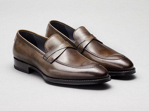 Calf Grey Loafer