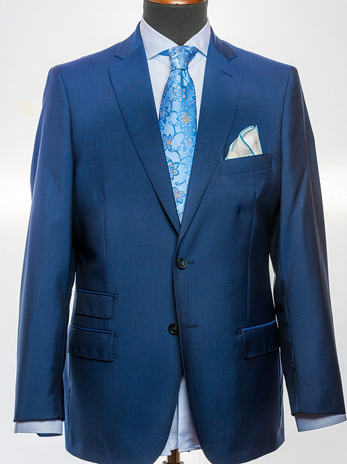 Aegean Blue Mohair and Wool Suit