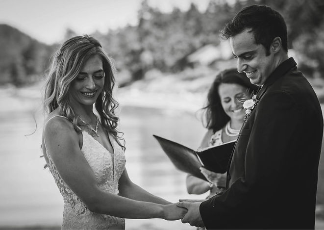 """<p class=""""font_8"""">Angie helped us with planning our elopment on galiano island. With her help she made our wedding day everything we hoped it would be - fun and stressfree. Angie arranged a team of vendors for us and took care of everything we needed (flowers, beauty, photography). She did an amazing job and I would recommend her to anyone.</p>"""