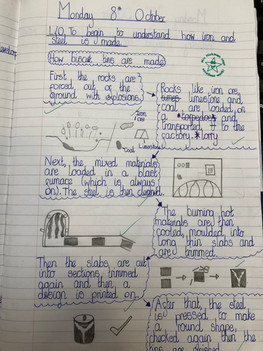 Example classwork KS2 geography South Wales