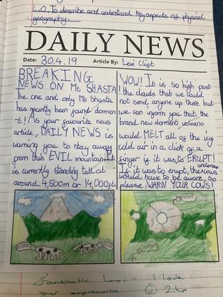 Example classwork: KS2 geography California
