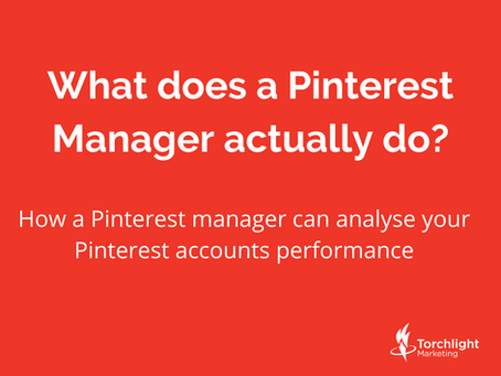 How a Pinterest manager can analyse your Pinterest accounts performance