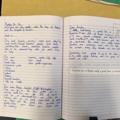 Example classwork for KS2 geography