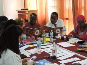 Teachers at a Gambian school