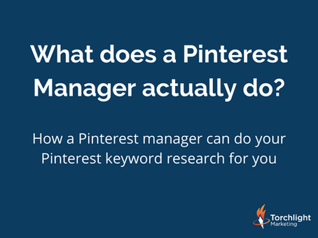 How a Pinterest manager can do your Pinterest keyword research for you
