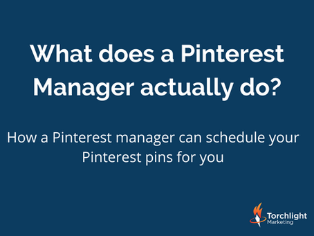 How a Pinterest manager can schedule your Pinterest pins for you.