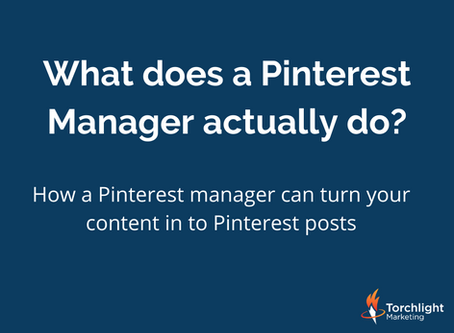 How a Pinterest manager can turn your content in to Pinterest posts