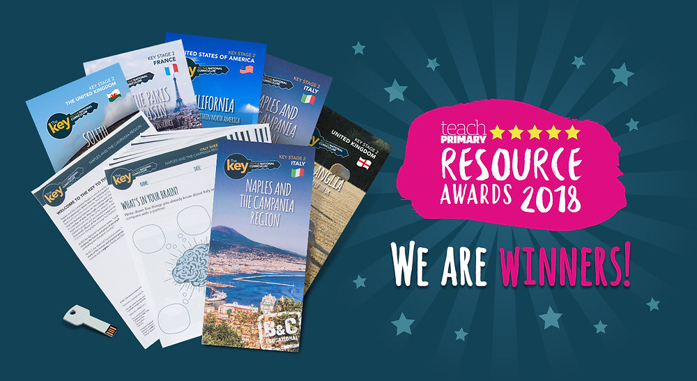Teach Primary Resource Awards 2018 Winners Badge and images of our resources