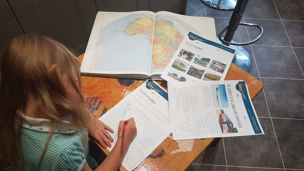 Geography worksheets in use.jpg