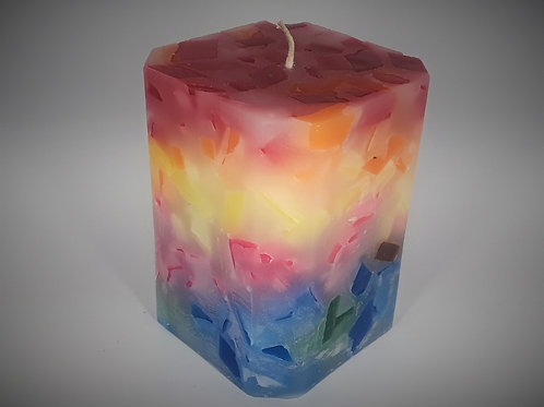 Angled Square Candle