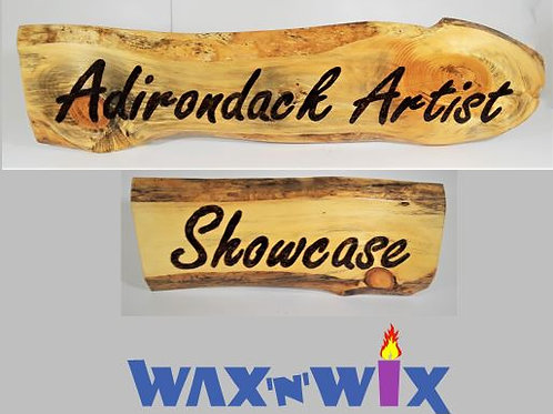 Adirondack Artists Show Case: Ticket for January 29 Wood Burning Sign Class