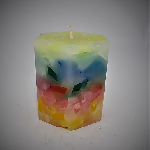 Hexagon Shaped Candle