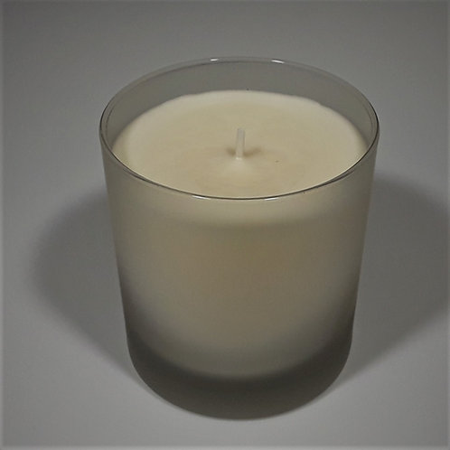 8 oz Soy Blend Frosted White Glass Candle