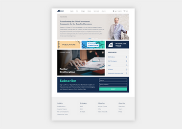Research Affiliates Website
