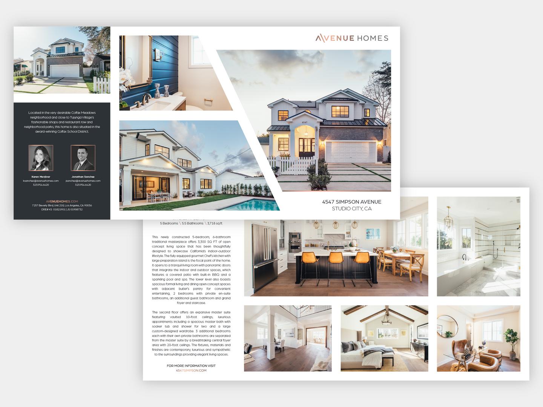 Avenue Homes Quad-Fold Brochure