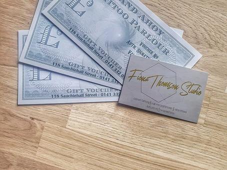 Gift vouchers now online