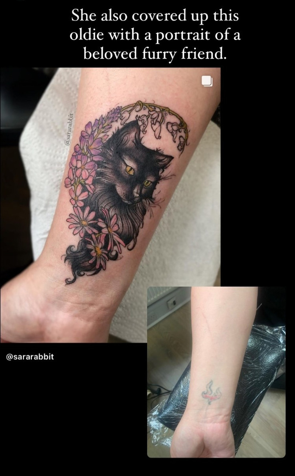 Sara Gallacher cover up tattoo in Glasgow