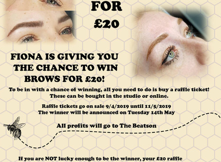 Microblading raffle, Win new brows for just £20
