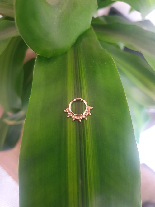 Sunburst septum ring
