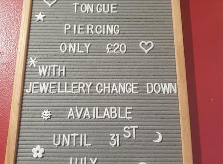 July Piercing Offer