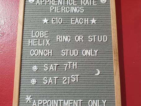 December Piercing Offer!