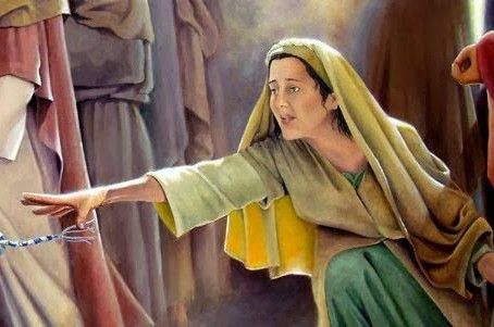 The Healing of the Woman Who Touched the Hem of Jesus' Garment.