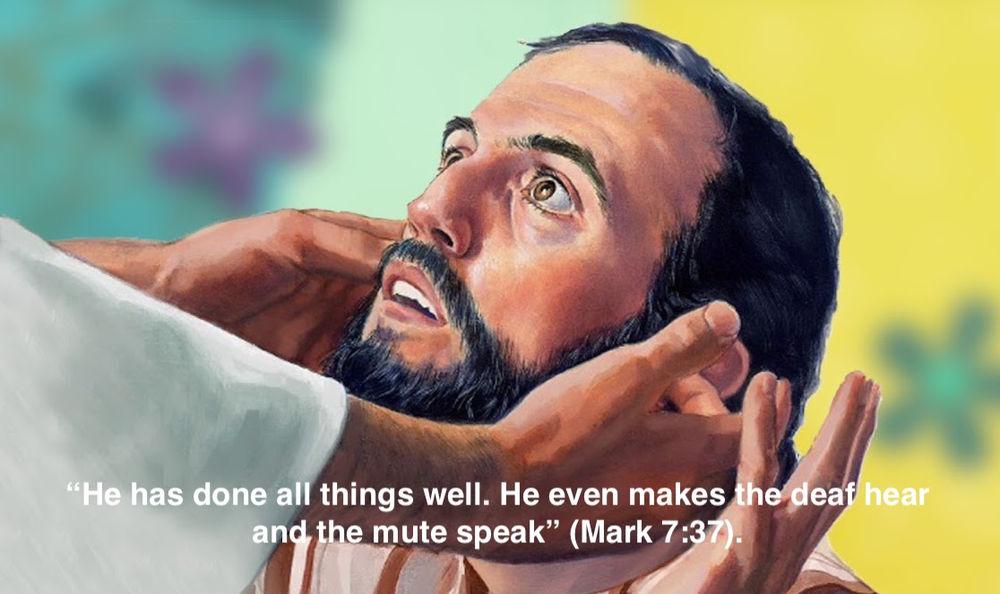 Jesus Heals a Deaf and Mute Man