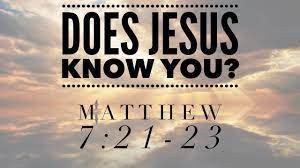 Does Jesus Know You?