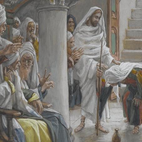 Jesus Heals a Demonized Crippled Woman