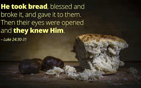 Jesus Disappeared at the Breaking of Bread.