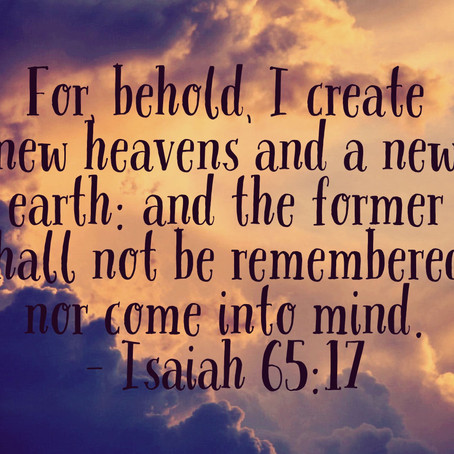 A New Earth and New Heavens