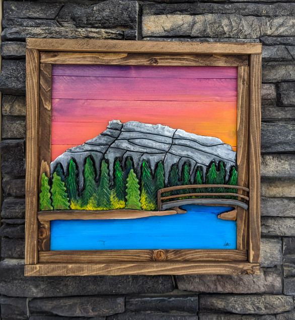 """the pits"" Banff Alberta 110$ + Shipping  1ft x 1ft"