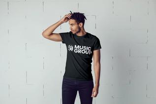 5050 Black Man in Black Tee 3rd Gen logo