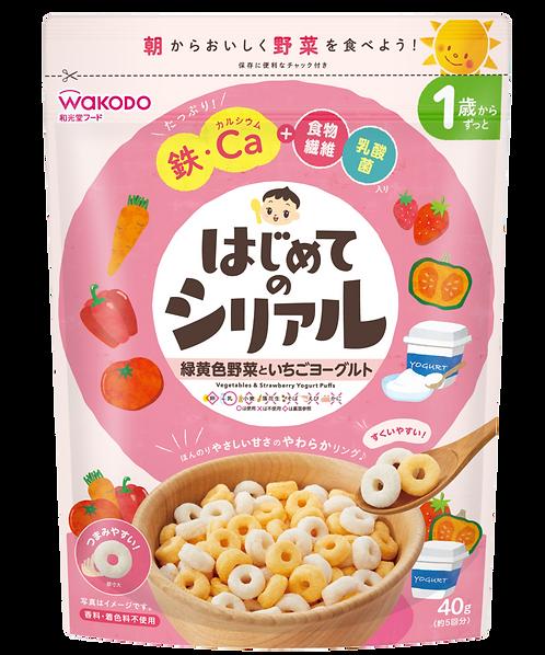 Vegetables & Strawberry Yogurt Puffs