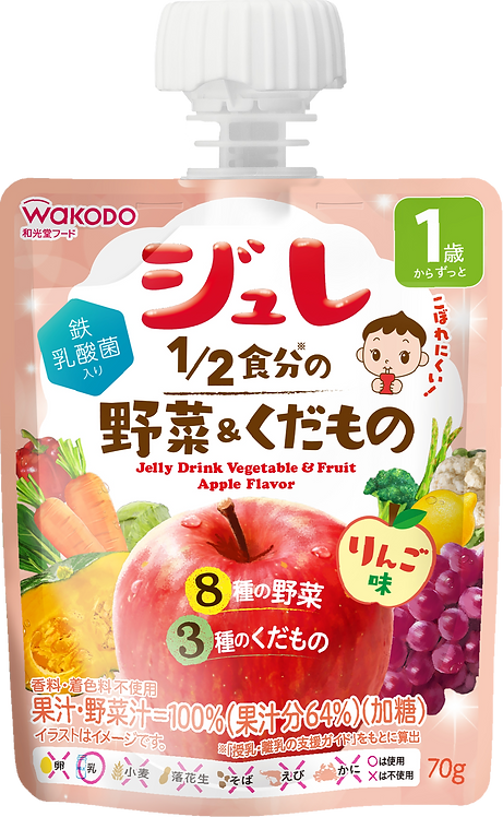 Jelly Drink Vegetable & Fruit Apple Flavour