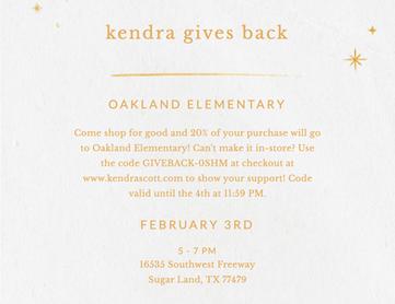 Kendra Scott Gives Back!